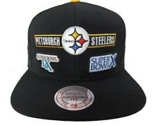Steelers Mitchell   Ness 6 Time Super Bowl Champ Snap Back Baseball Cap Hat  ... 3170e669e