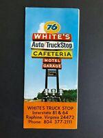 White's Truck Stop Raphine, Virginia.. Vintage Brochure