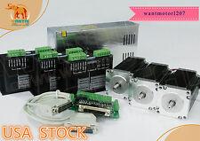 USA free! 3 Axis Nema23 Stepper Motor 57BYGH115-003B 425oz-in Dual Shaft&Driver