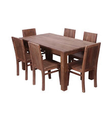 Mantang 180cm Reclaimed Teak Dining Table + 6 Wooden Chairs