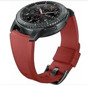 Samsung Medium Silicon Band for Gear S3 - Red (22mm) ET-YSU76MREGUS