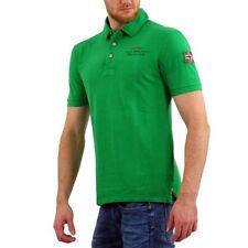 Camicie casual e maglie da uomo verde in cotone elasticizzato