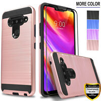 For LG V50 V40 ThinQ Phone Case, Shockproof Cover+ Tempered Glass Protector
