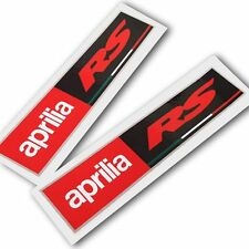 Aprilia Racing style RS Motorcycle graphics stickers decals x rectangle 2 PCS