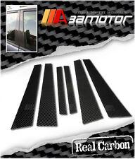 CARBON FIBER DOOR PILLAR PANEL COVER SET for BMW E39 5-SERIES 4D SEDAN 1997-2003