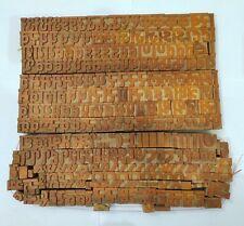 Vintage 285 Letterpress Wooden Type Block Hindi Alphabets Including Symbols