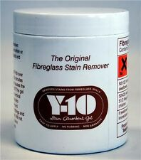 Y10 yellow stain remover from white or pale  GRP Glass Fibre Oxalic Acid