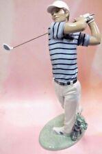 Golf Champion - Male Golfer Swinging Club 2016 By Lladro Porcelain #9228
