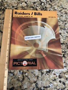 Oakland Raiders vs Bills 1968 Program Pictorial Ex Cond NFL AFL  HOF Al Davis
