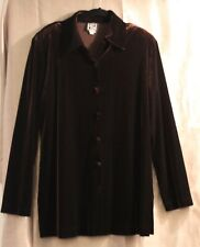 Joan Fagan Vintage - Chocolate Brown - Tunic - Size Large - Velvet