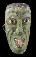 Antico Maschera Sciamano Nepalese Legno Himalaya-Animista Tibet Nepal 25994