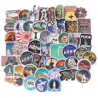50Pcs Fantasy Colour Stickers Outdoor Scrapbook Suitcase Laptop Guitar Stic HO