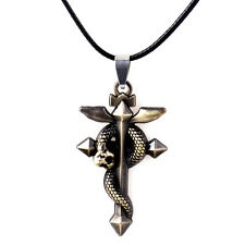 Fullmetal Alchemist Snake Metal Pendant Necklace Cosplay with Steel Chain