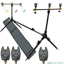 Rod Pod Carp Fishing With Bag 3 Rests and 3 Swingers and 3 Bite Alarms