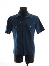 VERSACE JEANS COUTURE Blue Men's Casual Shirt Size L * Made in Italy