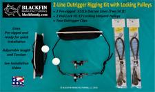 Outrigger Rigging Kit - 2 Line Set 50 Ft Lines+ Hal-Lock Locking Pulleys & Clips