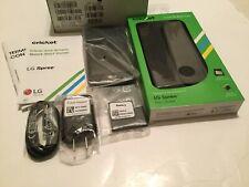 LG Spree Smartphone Cricket Black Android Phone New.