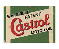 Castrol Motor Oil GTX Vintage Garage Advertising Sign Workshop Metal Plaque