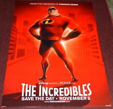 Disney/Pixar's The Incredibles 2006 Orig. Adv. Double-Sided 27x40 Movie Poster!