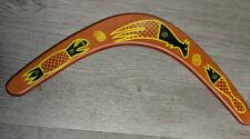 Boomerang Aboriginal Australia Style Painted Wood Decor, Wooden Wall Decoration