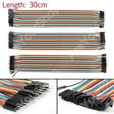 120x Dupont Wire Mâle To Mâle + Mâle To Femelle + Femelle To Femelle Jumper 30cm