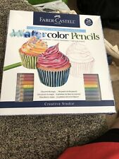 Faber-Castell Water Color Pencils with Paint Brush  Pack of 24 Pieces. 8 Pencils