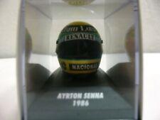 WOW EXTREMELY RARE Helmet Senna 1986 Bell Lotus 98T British GP 1:8 Minichamps