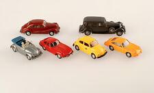 Konvolut 6 Wiking Modelle BMW 501, Horch 850, VW Cabrio,VW Post, Jaguar, Porsche