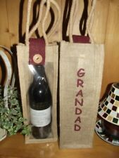 """Granddad"" Hessian / Jute Wine Gift Bottle Bag"