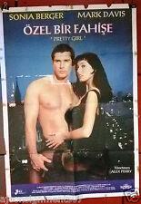ÖZEL BİR FAHİŞE Pretty Girl Sonia Berger Turkish Original Movie Poster 80s