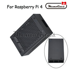 Fit For Raspberry Pi 4 Metal Enclosure Protective Box Shell Case w/ Cooling Fan