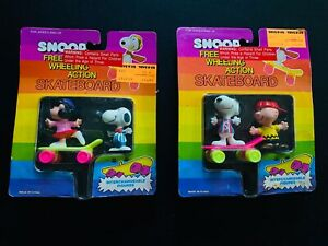 RARE Free Wheeling Skateboard NEW PEANUTS SNOOPY CHARLIE BROWN LUCY FIGURINES 85