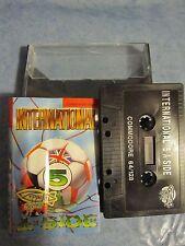 INTERNATIONAL 5 A SIDE per Commodore 64 C64 128 Boxed