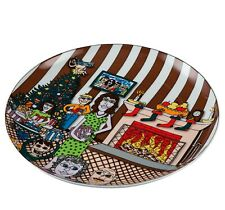 CHRISTMAS WITH THE FAMILY Schale James Rizzi 26100867 PopArt limitiert Ø 30 cm