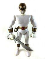 "White Ranger Vintage 8"" Power Rangers Action Figure w/ Saba Sword Tommy 1993"
