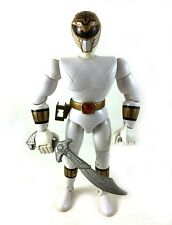 "White Ranger Vintage 8"" Power Rangers Action Figure w/ Saba Sword Tommy 1993"