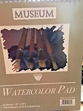 "Pack of 5 WATERCOLOR PAPER PAD-WEBER Museum 24 Sheets, 8x10"", ACID & LIGNIN FREE"