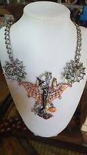 Kirks Folly Divine Diva Witch Halloween Necklace Silvertone New In Box RARE