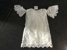 NWT Foxiedox New & Gen. Ladies X-Small UK 6/8 White Sleeveless Cocktail Dress