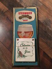 Vintage Stegmaier Beer Metal Toc Tin Over Cardboard Calendar Sign W/B Pa 1964