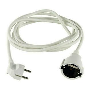 REV Verlängerungskabel Verlängerung Kabel weiß 5m mit Stecker Kupplung O43-62