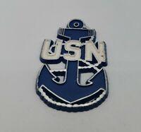 USN Vintage United States Navy Blue White Sailor Magnet