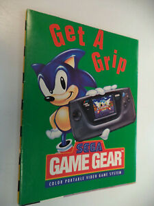 Sonic Hedgehog Sega Game Gear CD Genesis Double Sided Poster Insert Get a Grip