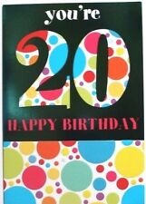 You're 20 happy Birthday card, suitable for male or female, circles theme, new