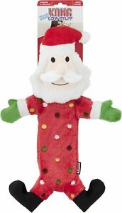 Kong Holiday Low Stuff Speckles Santa Dog Toy
