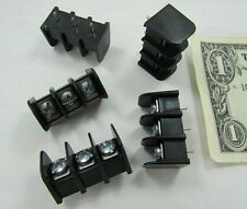 "5 Molex Barrier Blocks 3 Pole Screw Terminals PCB Solder 3/8"" Pitch 38720-6303"