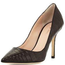 $1995 NEW Nancy Gonzalez HOLLY 90 Pumps CROCODILE Dark Brown Alligator Shoes 37