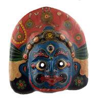 Grande Maschera Nepalese Mahakali Indra Jatra Festival Carta IN Tibet 44cm 7321