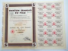 Action et titre OMNIUM FRANCAIS DU FILM 1928