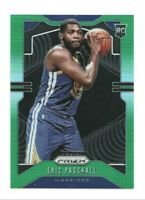 2019-20 Prizm Eric Paschall RC, Rookie Card Green Parallel Refractor, Warriors